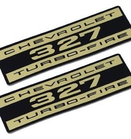 Books\Manuals 1962-65 Valve Cover Decals Turbo Fire Foil Pair