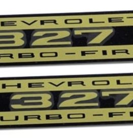 Books\Manuals 1962-63 Valve Cover Decals Turbo Fire Metal