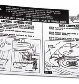 Books\Manuals 1961-62 Jacking Instructions