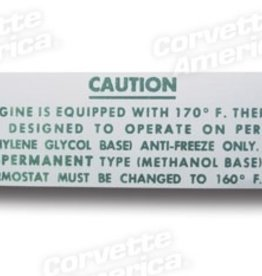 Books\Manuals 1958-62 Radiator Caution Decal