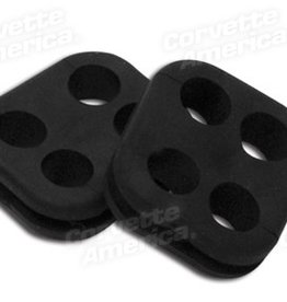 Ignition 1965-79 Spark Plug Wire Grommets Pair-4 Hole Square