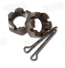 Suspension 1953-82 Spindle Nut with Cotter Pin 1953-68 Front 1965-82 Rear Pair