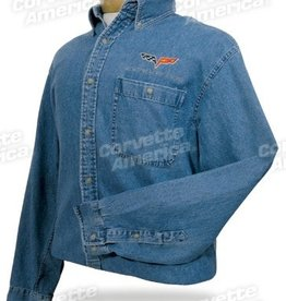 Apparel C6 Denim Shirt Blue W/Logo     X-Large