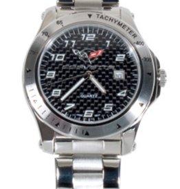 Jewelry C5 Logo Mens Watch Carbon Fiber Dial