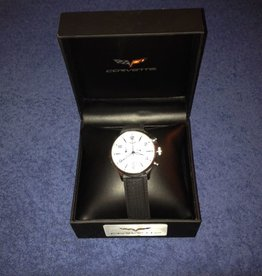 Jewelry C6 Chronograph Watch White Face with Black Band