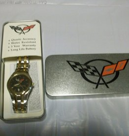 Jewelry C5 Logo Mens Watch Gold/Silver with Carbon Fiber Dial