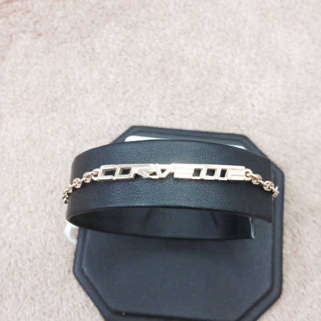 "Jewelry C6 Corvette Script Bracelet 14K Gold 8"""