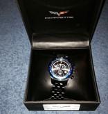 Jewelry C6 Chronograph Watch Black with Blue Bezel Black Band