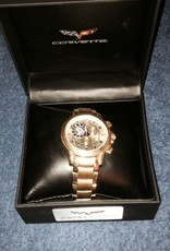 Jewelry C6 Chronograph Watch Gold with Gold Metal Band