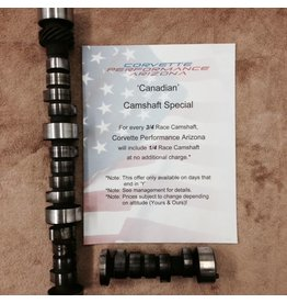 Engine For every 3/4 Race Camshaft sold, Corvette Arizona will include a 1/4 Race Camshaft at 'No Additional Charge'. *