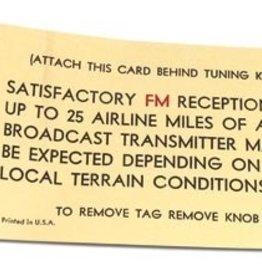 Books\Manuals 1967-69 Radio Card FM-Antenna