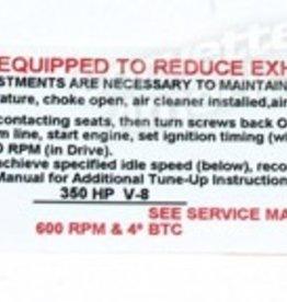 Books\Manuals 1970 Emission Label 454/390hp