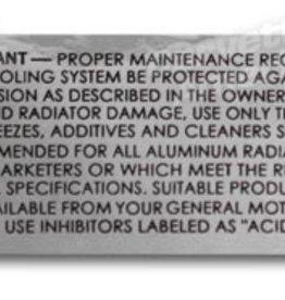 Books\Manuals 1961-72 Radiator Decal Harrison