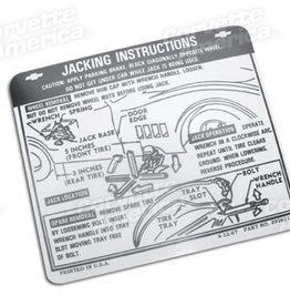 Books\Manuals 1968-72 Jacking Decal GloveBox