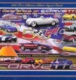 Collectibles Corvette 50th Anniversary Puzzle 1000 Piece with Metal Tin