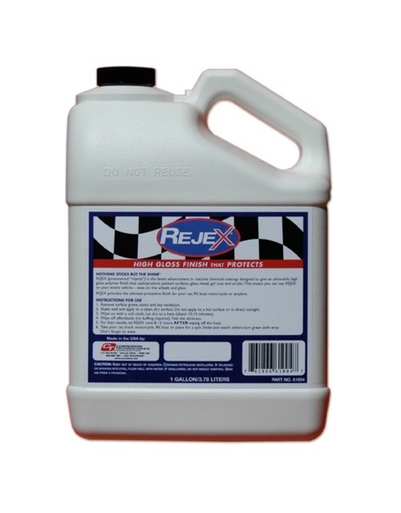 Chemicals REJEX<br /><br />NOTHING STICKS BUT THE SHINE!®<br /><br />RejeX is a thin-film polymer coating, used instead of wax or polish, to provide the ultimate, durable high-gloss protective finish for vehicles of all types.<br /><br />Entirely synthetic, RejeX&#039;s protective characteristics fa