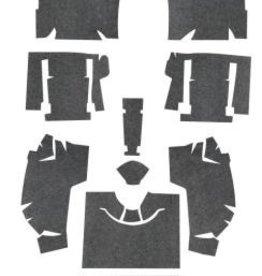 Interior 1963-67 Sound Deadener Foil Back Set-Coupe or Convertible