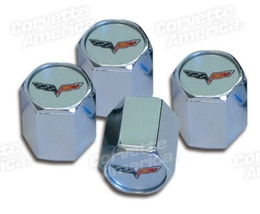 Wheels\Tires Z-06 Logo Valve Stem Caps Chrome