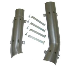 Exhaust 1965-67 Exhaust Heat Shields with Strap 2""