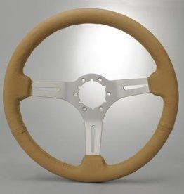 """Steering 1963-82 Steering Wheel 14"""" Tan"""