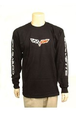 Apparel C6 Long Sleeve T-Shirt with Logo Black Large