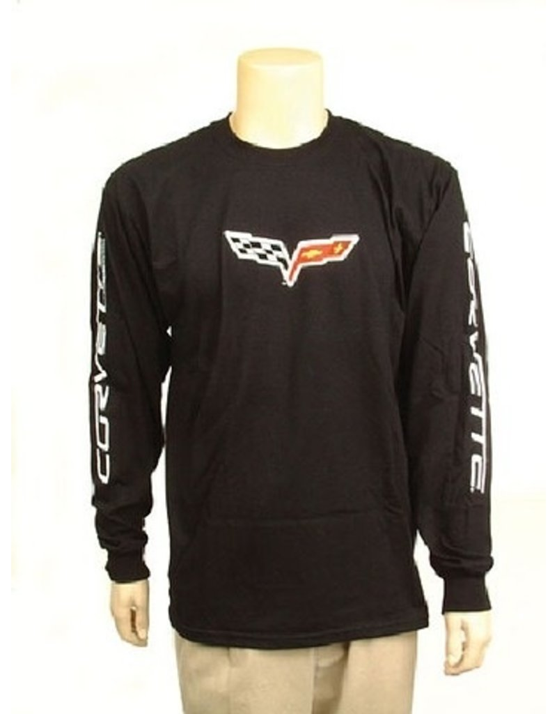 Apparel C6 Long Sleeve T-Shirt with Logo Black Large
