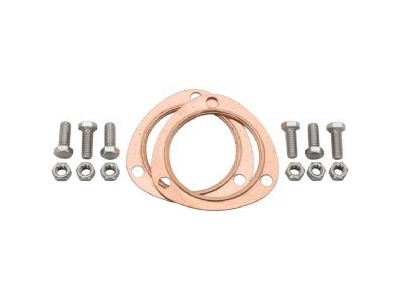 "Exhaust JEGS 3"" Copper Collector Gaskets with SS Hardware"