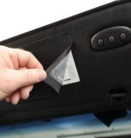 Interior C6 Sunvisor Cover for Warning Label Black