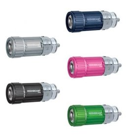Accessories 'Highbeam' 35 Lumen Rechargeable Light available in several colors.