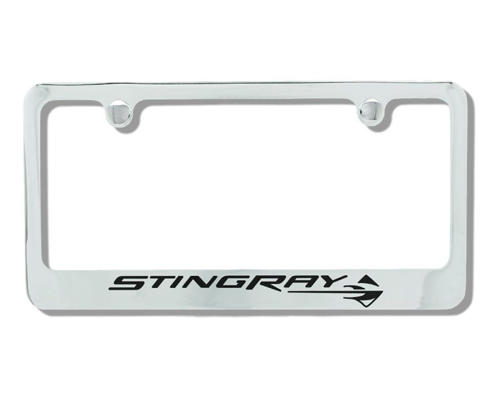 Accessories C7 License Plate Frame Chrome with StingRay Logo