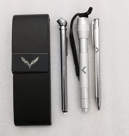Accessories C7 Roadster Set Leather Case with Pen, Tire Gauge and Flashlight Laser Engraved