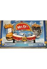 """Collectibles Corvette Route 66 'Mr. D's' Puzzle 500 Piece 18"""" X 11"""""""