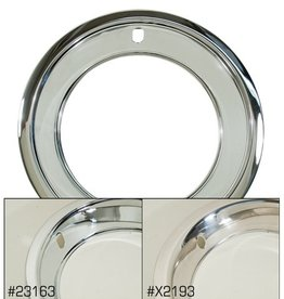 "Wheels\Tires 1969-82 Rally Wheel Trim Ring Set of 4 Chrome Plated SS (For 8"" Wheel)"