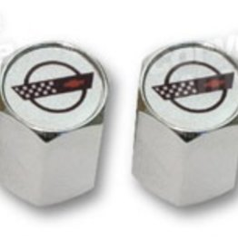 Wheels\Tires C4 Logo Valve Stem Caps Chrome