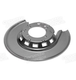 Brakes 1965-75 Rear Brake Backing Shield Left Hand Silver