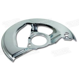 Brakes 1965-76 Front Brake Backing Shield Left Hand Silver