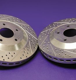 Brakes C4 Rear Rotors Pair-Drilled/Slotted