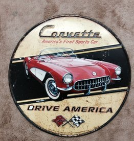 """Collectibles 1957 Metal Sign Round 12"""""""