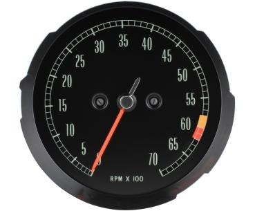 Electrical 1965-67 Tachometer with 6000RPM Redline.