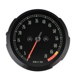 Electrical 1965-67 Tachometer with 6500RPM Redline.