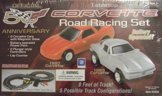 Collectibles Corvette 50th Anniversary Road Race Set with 8' of Track and '2 Controllers!