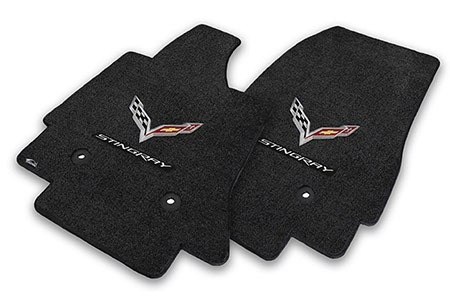 Accessories 2014-15 Floor Mats with Logo and Script Ebony Pair