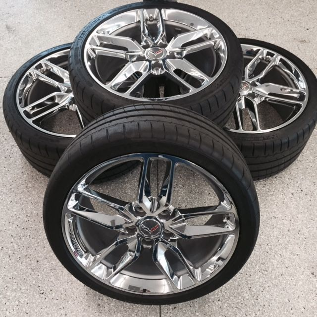 Wheels\Tires 2014-15 Z51 Chrome Wheels with Tires (3K Miles) Set of 4 with Caps/Sensors