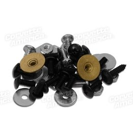 Weatherstrip 1968-75 Weatherstrip Convertible Top Fastener Kit 50 Piece