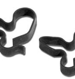 Brakes 1953-66 Brake Line Clips Front Crossover Pair