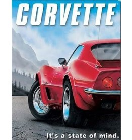 "Collectibles 1973 Corvette Metal Sign 12"" X 16"""