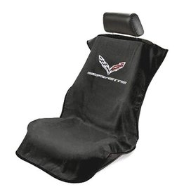 Accessories C7 Seat Towel with Logo Black