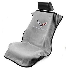 Accessories C7 Seat Towel with Logo Gray