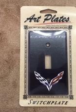 Accessories C7 Logo Light Switch Plate Single