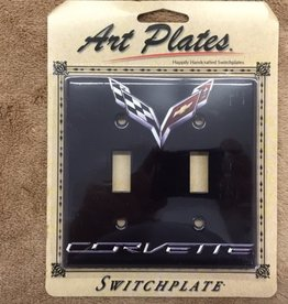 Accessories C7 Logo Light Switch Plate Double